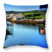 Calm Water At Peggys Cove #3 Throw Pillow