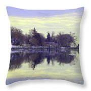 Calming Lavendar Scene Throw Pillow