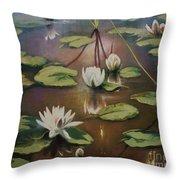 Calming Pond Throw Pillow