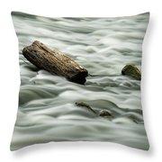 Calming Rapids  Throw Pillow
