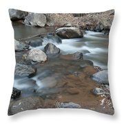 Calming Runnels Throw Pillow