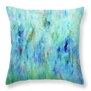 Calming Turquoise Throw Pillow