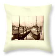 Calmly Docked Throw Pillow