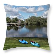 Caloosahatchee Kayaking Throw Pillow