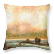 Calor Bianco Throw Pillow