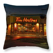 Calories And Caffene Throw Pillow