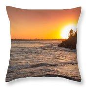 Caloundra Beach Sunset Throw Pillow