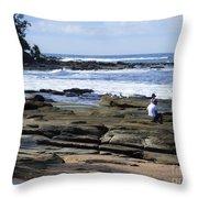 Caloundra Coast. #1 Throw Pillow