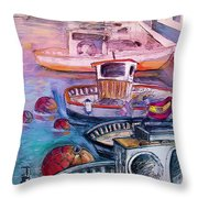 Calpe Harbour 03 Throw Pillow