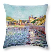 Calvados Throw Pillow by Paul Signac