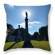 Calvary Catholic Cemetery Throw Pillow