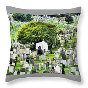 Calvary Cemetery From Above Throw Pillow