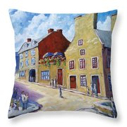Calvet House Old Montreal Throw Pillow