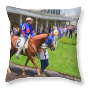 Calvin Borel Throw Pillow