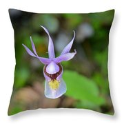 Calypso Orchid Throw Pillow