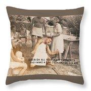 Calypso Quote Throw Pillow