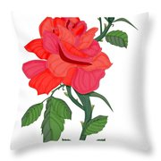 Calypso Rose Throw Pillow