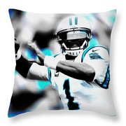 Cam Newton Letting It Fly Throw Pillow