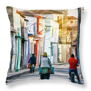 Camaguey Street 11 Throw Pillow