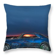 Camaro And Chopper Throw Pillow