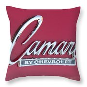 Camaro Emblem By Chevrolet Throw Pillow