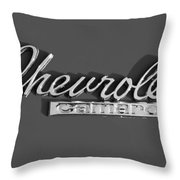 Camaro Logo In Black And White Throw Pillow