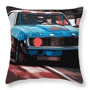 Camaro Z28 Transam 1969 Throw Pillow