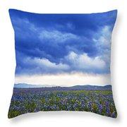 Camas Glory At Camas Prairie In Idaho Throw Pillow
