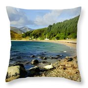 Camasnacroise Loch Linnhe Throw Pillow