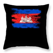 Cambodia Shirt Gift Country Flag Patriotic Travel Asia Light Throw Pillow