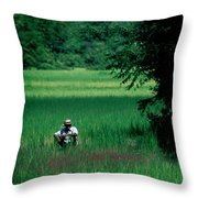 Cambodian Farmer Throw Pillow