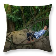 Cambodian Jungle Swing Throw Pillow