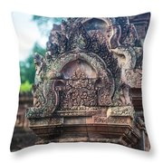 Cambodian Temple Details Banteay Srey Throw Pillow
