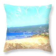 Cambria On The Pacific Throw Pillow by Arline Wagner