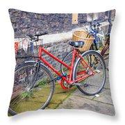 Cambridge Bikes 1 Throw Pillow