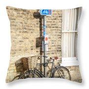 Cambridge Bikes 5 Throw Pillow