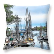 Camden Bay Harbor Throw Pillow