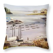 Camden Docks Throw Pillow