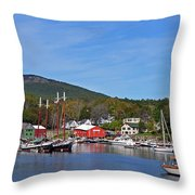 Camden Harbor Throw Pillow by Corinne Rhode