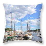 Camden Maine Harbor Throw Pillow