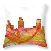 Camden Nj Skyline Throw Pillow