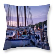 Camden Windjammer Dawn Throw Pillow by Susan Cole Kelly
