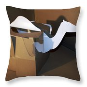 Camel 2 Throw Pillow