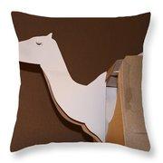 Camel 4 Throw Pillow