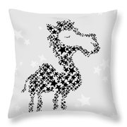 Camel Black Star Throw Pillow