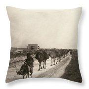 Camel Caravan, C1911 Throw Pillow