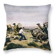 Camel Express, 1857 Throw Pillow