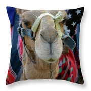 Camel Ride Throw Pillow