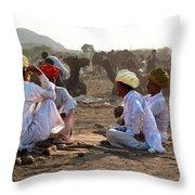Camel Traders Pushkar Throw Pillow