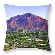 Camelback Mountain, Phoenix, Arizona Throw Pillow